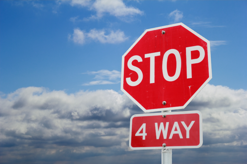 How to Determine Fault at a Four-Way Stop Accident